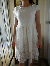 Gorgeous White Lace Dress - Size 10
