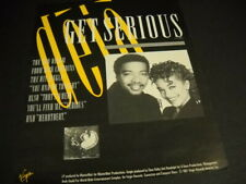 Deja Get Serious with the new album and singles Original 1987 Promo Poster Ad