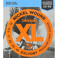 D'Addario Exl110Bt Nickel Wound Balanced Regular Light Guitar Strings 10-46