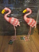 2x 39cm Flamingo Outdoor Garden