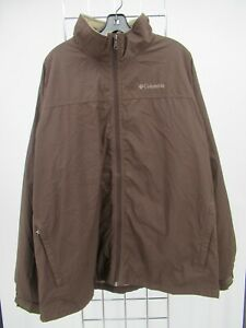 H1839 Men's Columbia Full-Zip Raining Windbreaker Jacket Size XL