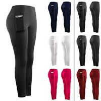 Women Casual Stretch Yoga Leggings Fitness Running Gym Sports Pocket Active Pant