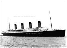 Photo: RMS Titanic Leaves Southampton, Grand Starboard View, April 10, 1912