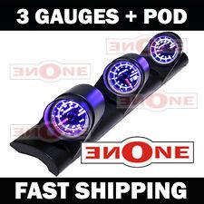 Universal Fit Triple Pod + 4 LED color Boost Air/Fuel Volt Gauges