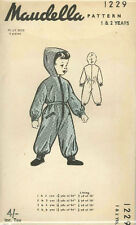 Vintage Boys Playsuit Sewing Pattern Mau1229 Size 1/2yrs