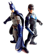 "DC Comics Universe  ARKHAM CITY BATMAN & NIGHTWING toy 6"" figures, robin RARE!"