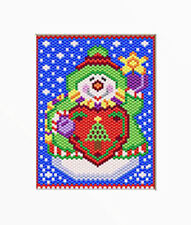 HAPPY SNOWMAN  PONY BEAD BANNER PDF PATTERN ONLY