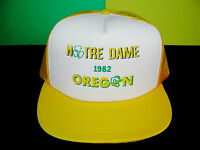 Notre Dame Fighting Irish Oregon Ducks Vintage 1982 Hat Cap Mesh Football NCAA