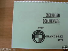 P0019 PUCH---ONDERDELEN DOCUMENTATIE---PUCH GRAND PRIX 1977-MODEL 1977 PART LIST