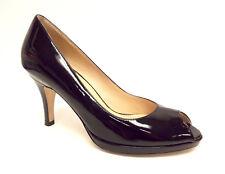 COLE HAAN Size 7 Black Patent N. Air Open Toe Heels Pumps Shoes