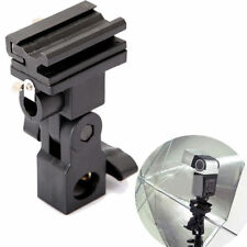 Photo Flash Adapter Hot Shoe Swivel Light Stand Mount Umbrella Holder Bracket B
