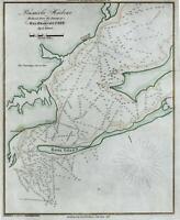 Pensacola Florida Rosa Island 1837 Coastal Survey engraved map hand color