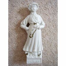 German porcelain lady figure in white