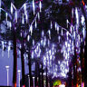 50cm 320 LED Lights Meteor Shower Rain 8 Tube Xmas Snowfall Tree Outdoor Light H