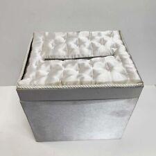 White Satin & Pearl Bridal Gift Card Box