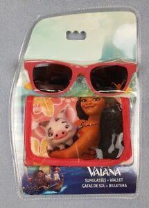 Disney Vaiana Wallet and Sunglasses Gift Sets UV Sun Safe Summer Holiday