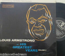 LOUIS ARMSTRONG - His Greatest Years Volume 4 ~ VINYL LP