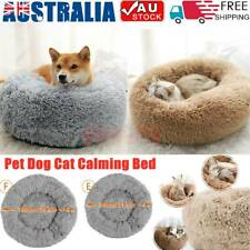 Dog Pet Cat Calming Bed Beds Large Mat Comfy Puppy Fluffy Donut Cushion Plush AU