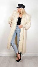 Vintage mohair mongolian Fourrure Laine Manteau Cardigan années 1980 RARE taille M