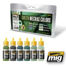 Ammo 17ml Green Mechas Acrylic Color Set x 6 # 7149