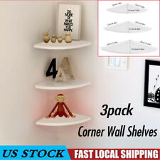 3Pcs Corner Shelf Floating Wall Shelves Mount Storage Rack Display Home Decor