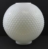 """White Hobnail 10"""" Ball Glass Lamp Shade with 4"""" Inch Fitter"""