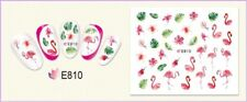 Nail Art Water Decals Transfers Stickers Summer Palm Trees Flamingo Flowers E810