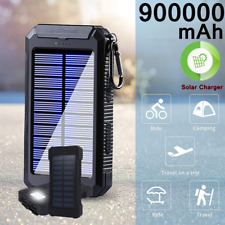 900000mAh Portable Solar Power Bank LED High Capacity Battery Charger for Phone