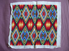 #1654  Beautiful Vintage Embroidery Hand Made Tapestry  47cm/44cm(18.5''x17'')