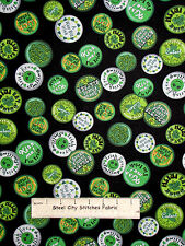 St Patricks Day Irish Shamrock Black Cotton Fabric QT 23550-J Wee Bit Irish YARD