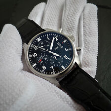 IWC Fleigeruhr 43mm Pilots Chronograph Ref 3777 automatic Day Date Antimagnetic
