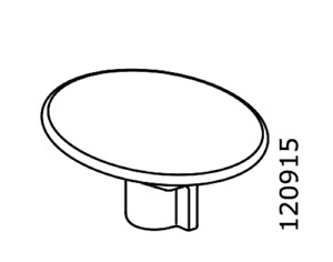 2x Ikea Metric M6 Nut with Retainer, Steel Part# 120915 -Tarnished