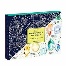 Birthstones & The Zodiac 2-in-1 Double Sided Puzzle, Galison 9780735354258..