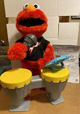 "Sesame Street Lets Rock Elmo Talks Sings Dancing Interactive 15"" Hasbro Complete"
