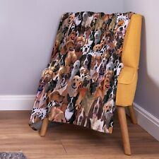 Dogs All Over Design Soft Fleece Throw Blanket