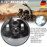 """5-3/4"""" 5.75"""" LED Projektion Hi/Lo Haupt Scheinwerfer für Harley Davidson Schwarz"""