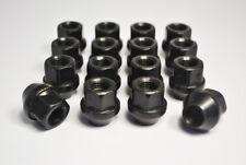 Set of 16 x M12 x 1.25, 19mm Hex Open Alloy Wheel Nuts (Black)