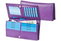 Rimbaldi® besonders flache Damen Geldbörse in Lila aus naturbelassenem Leder