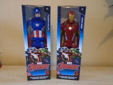 BNIB Marvel Avengers IRON MAN & CAPTAIN AMERICA Action Figures TITAN HERO SERIES