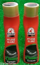 (3,99€/100ml) 2x Erdal express PFLEGEGLANZ SCHWARZ mit Mandelöl-Glanz + Farbe