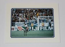 Joe Jordan Escocia Leeds Bristol City Man Utd Milán Montaje de Foto Firmada a Mano Certificado de Autenticidad