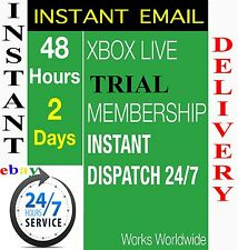 XBOX LIVE GOLD 48HR 48 hours 2 DAY TRIAL CODE - INSTANT DISPATCH - 48 hour