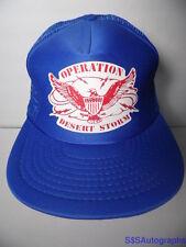 Vintage 1991 OPERATION DESERT STORM Military Eagle Crest SNAPBACK TRUCKER HAT