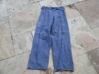 Denim Worker Pants 17Oz True Vintage Trousers Heritage Mechanic French Style