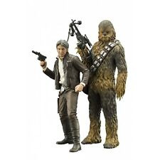 Star Wars Sw120 Episode 7 Han Solo and Chewbacca ARTFX Statue