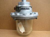 Old Vintage Industrial Lamp Factory Light Explosion Proof Unused Communist Era.