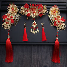 Chinese Style Wedding Bride Headdress Ancient Costume Hair Tassel Headdress Suit