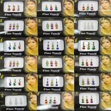 18 Packs Indien Bindis Assortiment Tatouages Temporaires Tradtional Autocollants