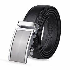 """Vbiger Men's Leather Belt Sliding Buckle 35mm Ratchet Belt Black (42"""" to 52"""" ..."""