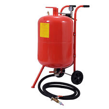 20 Gallon Sandblaster Sand Blaster Air Media Abrasive Blasting Tank Portable Red